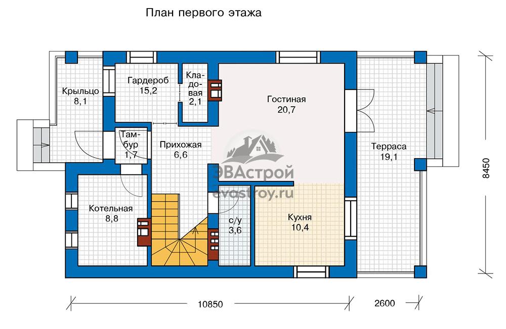 10 на 10 дом одноэтажный из керамзитобетона верхний уровень бетонной смеси в опалубке